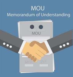 mou memorandum of understanding vector image