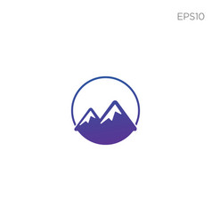 mountain hill symbol or logo icon isolated vector image