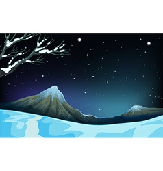 Nature scene during the winter time vector image