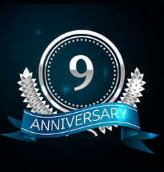 nine years anniversary celebration design vector image