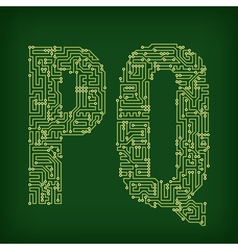 PCB letter and digits vector image