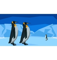 Penguins at the South Pole seamless animal vector image