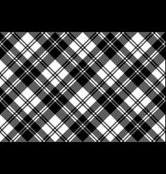 Plaid black white tartan classic seamless pattern vector