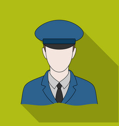 postmanmail and postman single icon in flat style vector image
