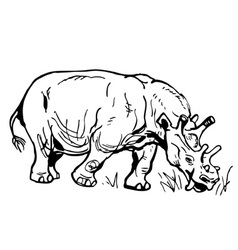 prehistorical animal vector image