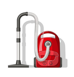 Red vacuum cleaner vector