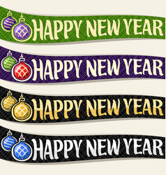 Ribbons for new year vector