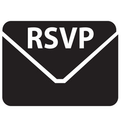 rsvp icon vector image