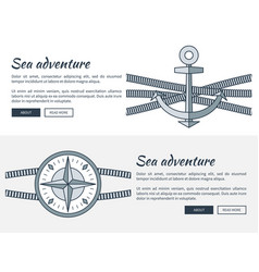 sea adventure pages collection vector image