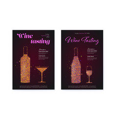 set banners for wine festival posters for wine vector image