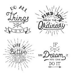 Set inspirational lettering for greeting cards vector