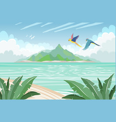 summer tropical island tropical paradise vector image