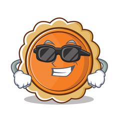Super cool pumpkin pie character cartoon vector