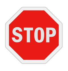 Traffic sign stop vector