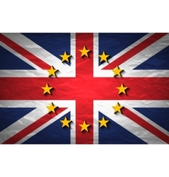 United Kingdom and European union flags combined vector image