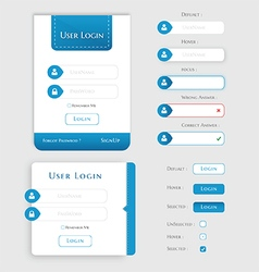 User Login Form UI - User Interface vector