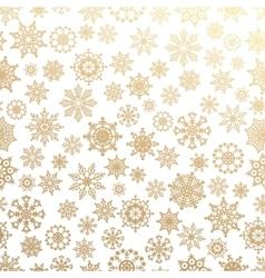 Various golden winter snowflakes set vector image