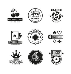vintage gambling casino poker royal tournament vector image