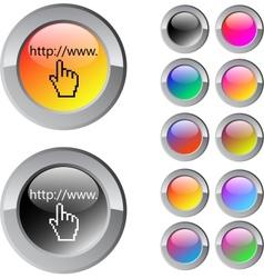 Www click multicolor round button vector