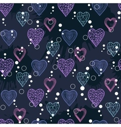 Abstract Hearts pattern vector image vector image