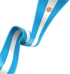 argentina RIBBON FLAG vector image