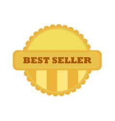 best seller gold vintage custom badge emblem vector image