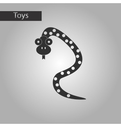 black and white style toy snake vector image