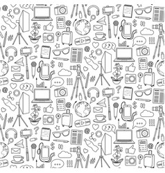 Blog object seamless pattern vector