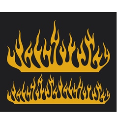 burn flame vector image vector image