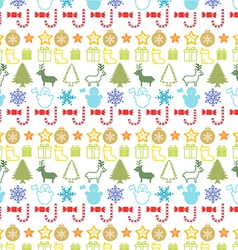 Christmass seamless pattern vector image