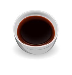 delicious freshly prepared sauce to the dishes of vector image vector image