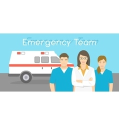 Doctor and nurses ambulance personnel vector image vector image