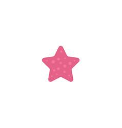 Flat cartoon pink colored starfish star fish vector