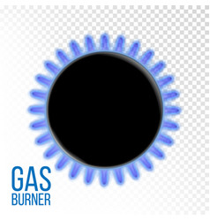 gas burner kitchen oven isolated on vector image