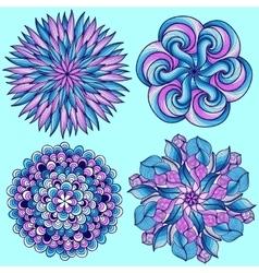 mandalas Colored mandala set Oriental vector image