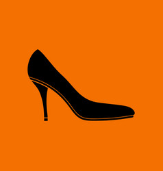 Middle heel shoe icon vector