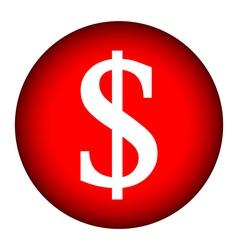 Money button vector image