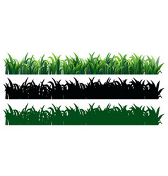 seamless grass in three styles vector image vector image