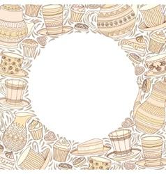 Tea Time Frame vector image