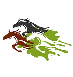 Three running Horses vector image