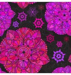 Vintage seamless black pattern vector image vector image