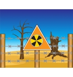 Zone to radioactive danger vector image vector image