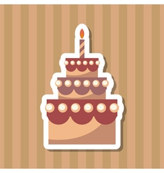 birthday cake backing vector image vector image
