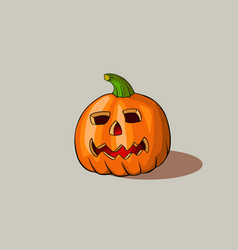 carved pumpkin for halloween design vector image vector image