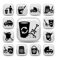 garbage icons vector image