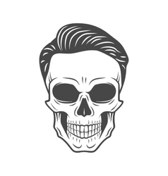 Young stylish skull with hipster hair Glamour vector image vector image