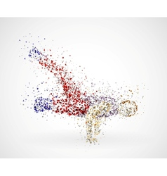 Paint splatter dancing man vector image