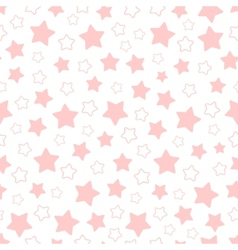seamless pattern of pink pentagonal stars vector image vector image