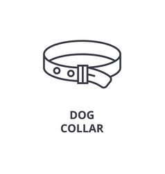 dog collar line icon outline sign linear symbol vector image