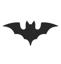 Halloween Bat Icon on White Background vector image